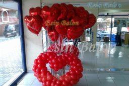 Kalpli Folyo Uçan Balon / 0216 567 81 14